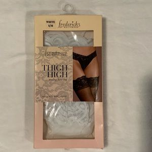 🌟NEW in Box White Lacy Thigh Highs🌟